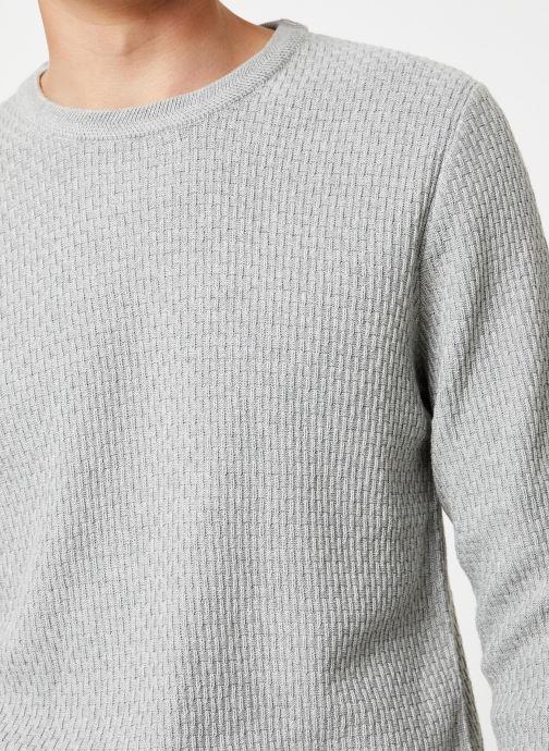 Vêtements Selected Homme Slholiver Knit Gris vue face