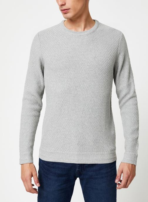 Vêtements Selected Homme Slholiver Knit Gris vue détail/paire