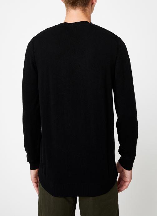 Vêtements Selected Homme Slhdaniel Knit Noir vue portées chaussures