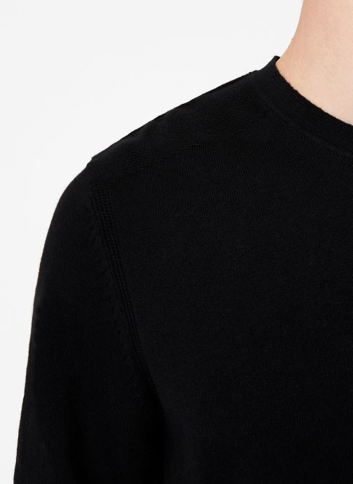 Vêtements Selected Homme Slhdaniel Knit Noir vue face