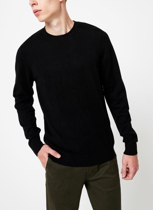 Vêtements Selected Homme Slhdaniel Knit Noir vue droite