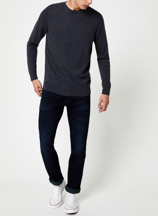 Vêtements Selected Homme Slhdaniel Knit Gris vue bas / vue portée sac