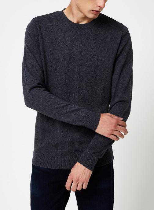 Vêtements Selected Homme Slhdaniel Knit Gris vue droite