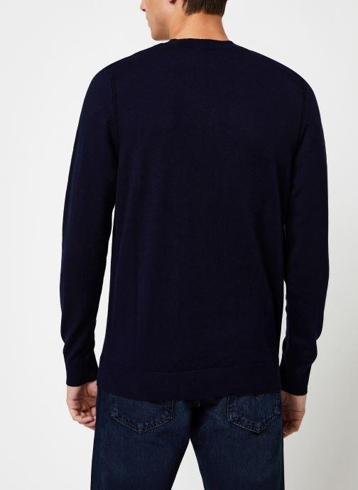 Vêtements Selected Homme Slhdaniel Knit Bleu vue portées chaussures