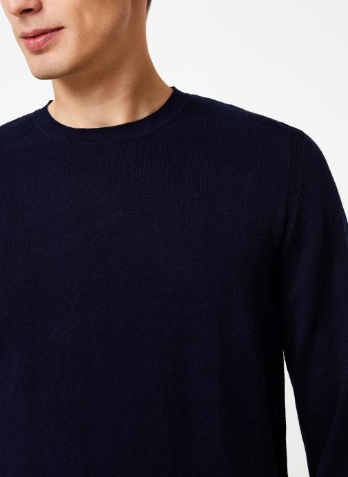 Vêtements Selected Homme Slhdaniel Knit Bleu vue face