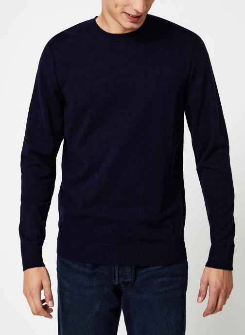 Vêtements Selected Homme Slhdaniel Knit Bleu vue droite