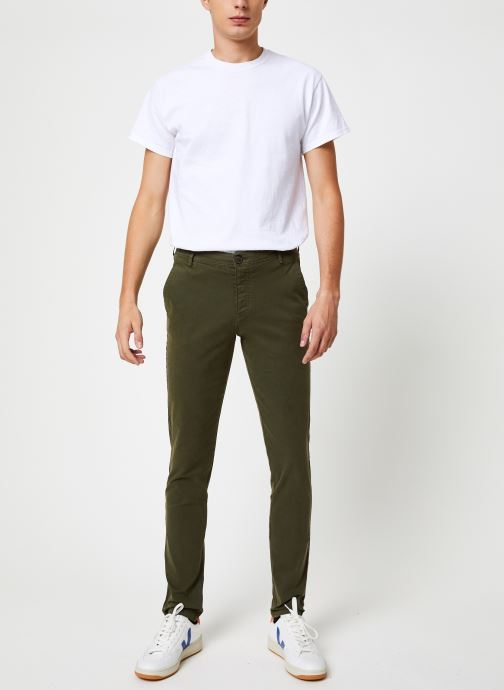 Vêtements Selected Homme Slhskinny-Luca Pants Vert vue bas / vue portée sac