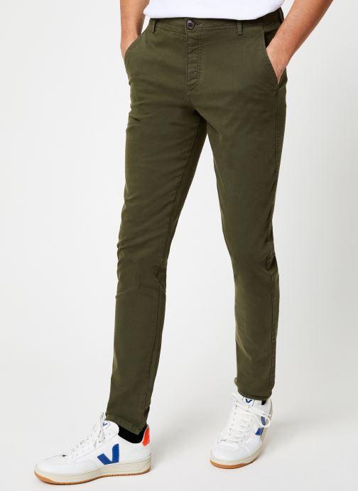 Vêtements Selected Homme Slhskinny-Luca Pants Vert vue détail/paire