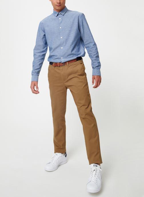Vêtements Selected Homme Slhslim-Yard Pants Marron vue bas / vue portée sac