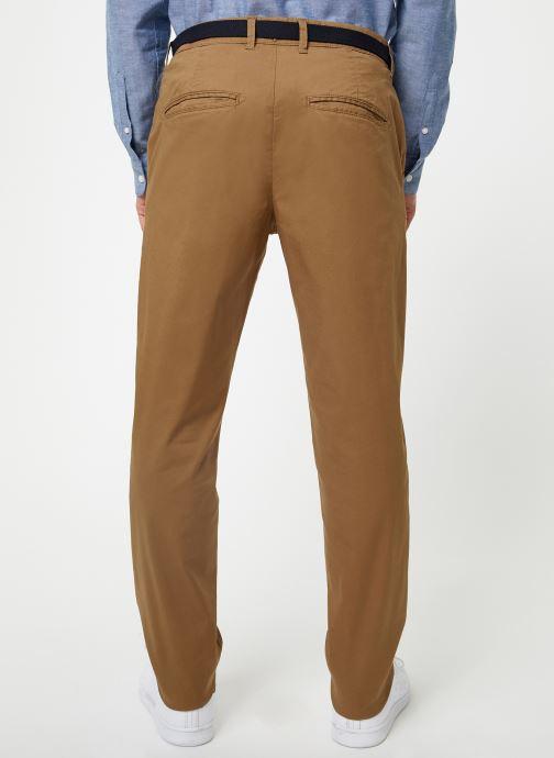 Vêtements Selected Homme Slhslim-Yard Pants Marron vue portées chaussures