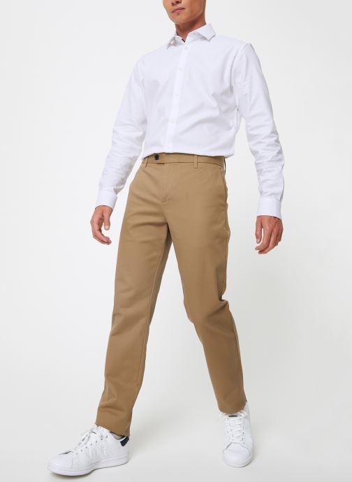 Vêtements Selected Homme Slhslim-Carlo Pants Vert vue bas / vue portée sac