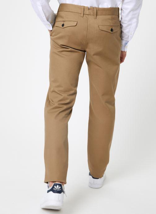 Vêtements Selected Homme Slhslim-Carlo Pants Vert vue portées chaussures