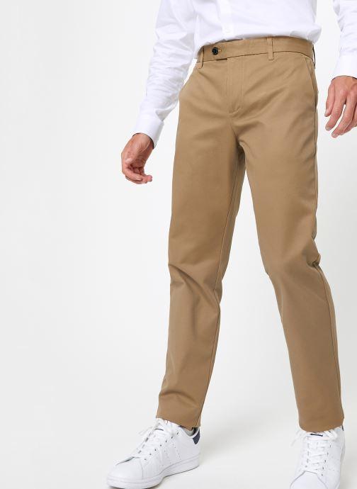 Vêtements Selected Homme Slhslim-Carlo Pants Vert vue détail/paire