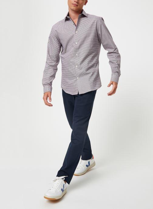 Vêtements Selected Homme Slhslimnew-Mark Shirt Multicolore vue bas / vue portée sac