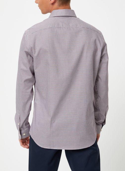 Vêtements Selected Homme Slhslimnew-Mark Shirt Multicolore vue portées chaussures