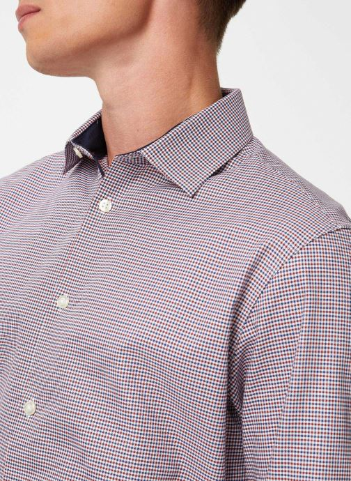 Vêtements Selected Homme Slhslimnew-Mark Shirt Multicolore vue face