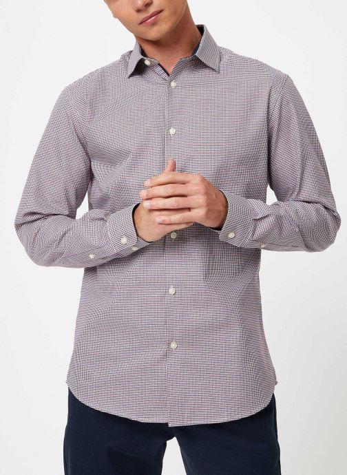 Vêtements Selected Homme Slhslimnew-Mark Shirt Multicolore vue droite