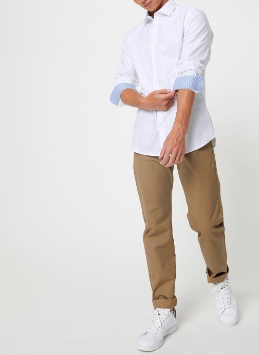 Vêtements Selected Homme Slhslimnew-Mark Shirt Blanc vue bas / vue portée sac
