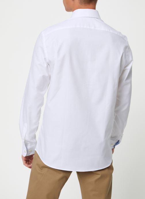 Vêtements Selected Homme Slhslimnew-Mark Shirt Blanc vue portées chaussures