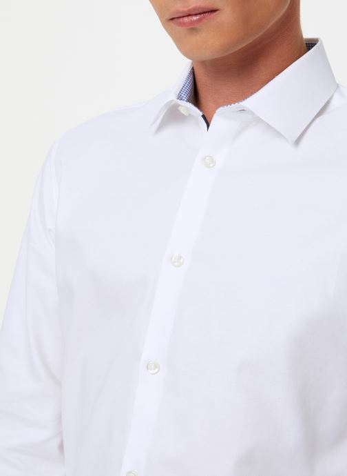 Vêtements Selected Homme Slhslimnew-Mark Shirt Blanc vue face