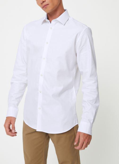 Vêtements Selected Homme Slhslimnew-Mark Shirt Blanc vue droite