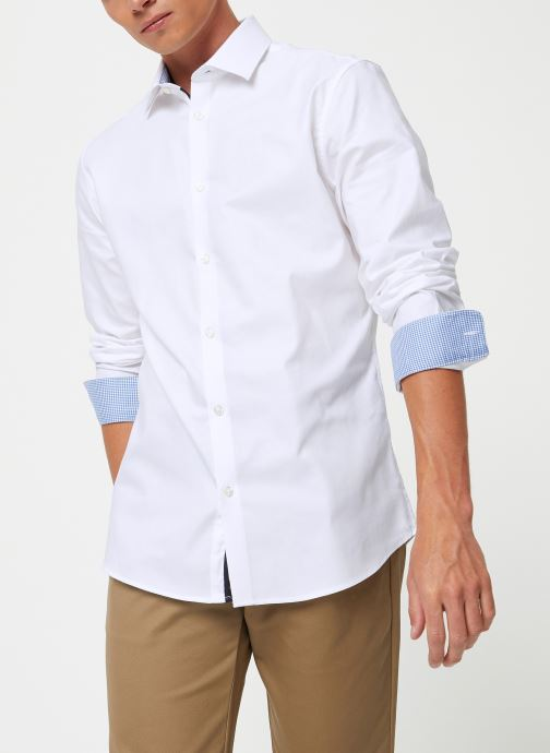 Vêtements Selected Homme Slhslimnew-Mark Shirt Blanc vue détail/paire