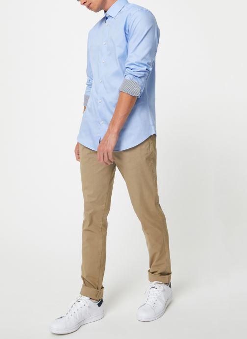 Vêtements Selected Homme Slhslimnew-Mark Shirt Bleu vue bas / vue portée sac