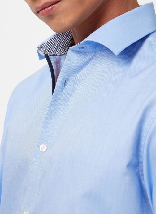 Vêtements Selected Homme Slhslimnew-Mark Shirt Bleu vue face