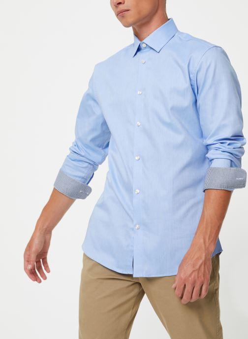 Vêtements Selected Homme Slhslimnew-Mark Shirt Bleu vue droite