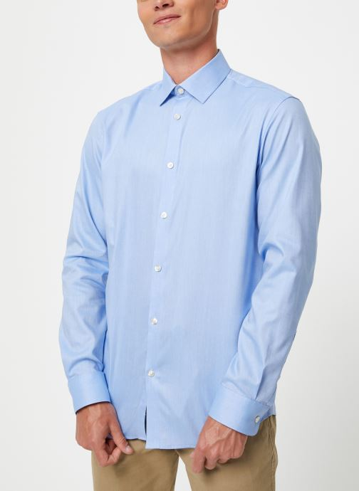 Vêtements Selected Homme Slhslimnew-Mark Shirt Bleu vue détail/paire