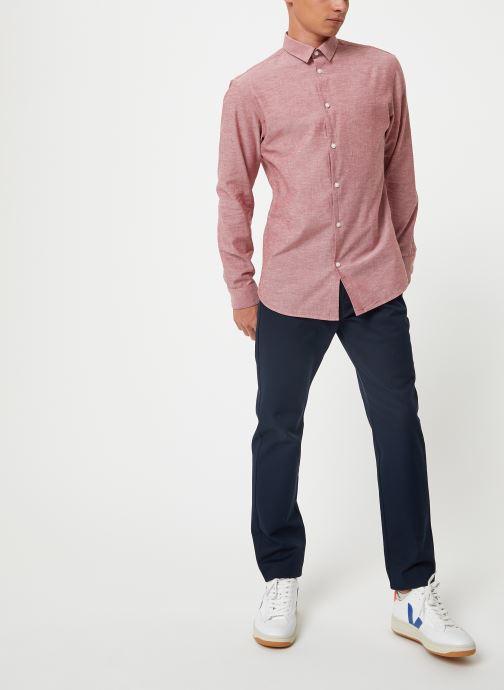 Vêtements Selected Homme Slhslimlinen Shirt Rouge vue bas / vue portée sac