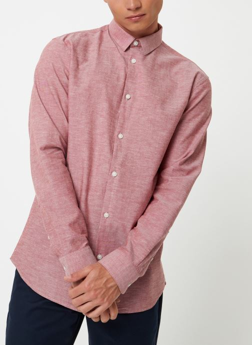 Vêtements Selected Homme Slhslimlinen Shirt Rouge vue droite
