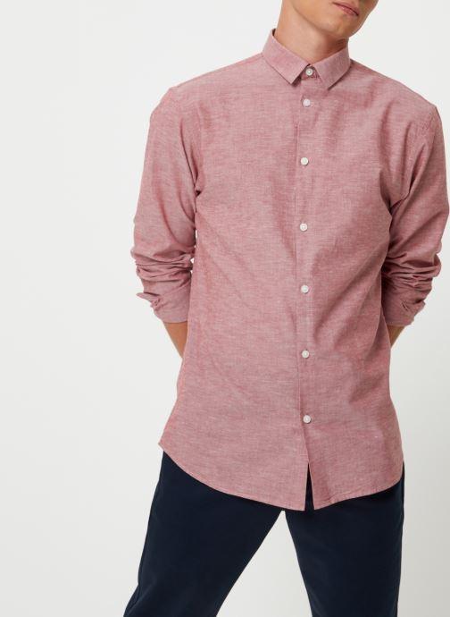 Vêtements Selected Homme Slhslimlinen Shirt Rouge vue détail/paire