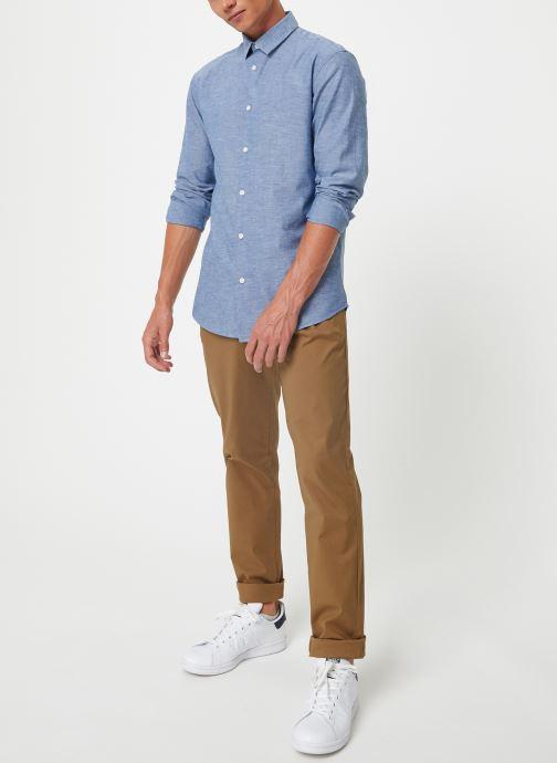 Vêtements Selected Homme Slhslimlinen Shirt Bleu vue bas / vue portée sac
