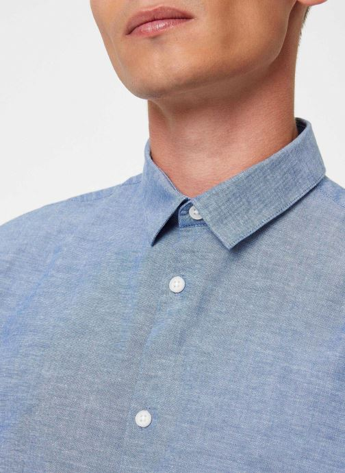 Vêtements Selected Homme Slhslimlinen Shirt Bleu vue face
