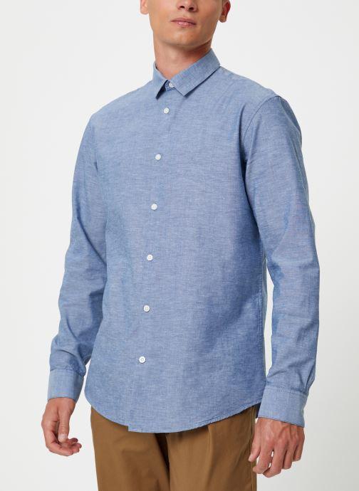 Vêtements Selected Homme Slhslimlinen Shirt Bleu vue droite
