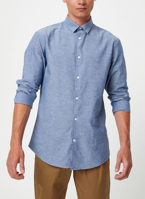 Vêtements Selected Homme Slhslimlinen Shirt Bleu vue détail/paire