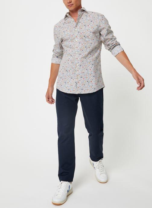 Vêtements Selected Homme Slhslimpen-Garden Shirt Blanc vue bas / vue portée sac