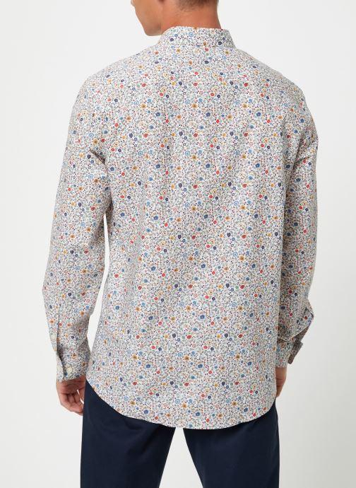 Vêtements Selected Homme Slhslimpen-Garden Shirt Blanc vue portées chaussures