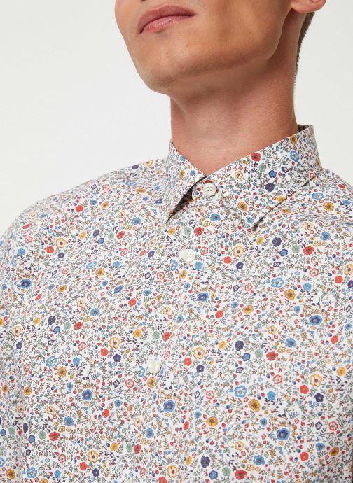 Vêtements Selected Homme Slhslimpen-Garden Shirt Blanc vue face