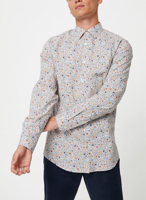 Vêtements Selected Homme Slhslimpen-Garden Shirt Blanc vue droite