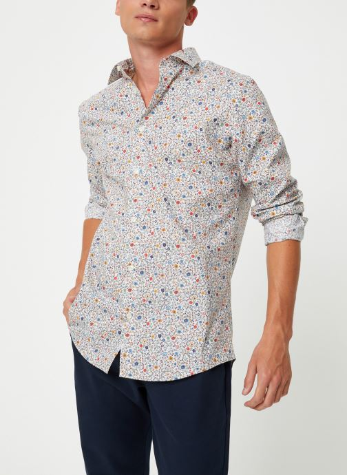 Vêtements Selected Homme Slhslimpen-Garden Shirt Blanc vue détail/paire