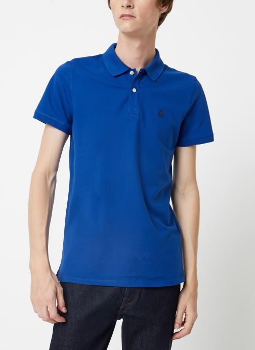 Vêtements Selected Homme Slharo Embroidery Polo Bleu vue droite