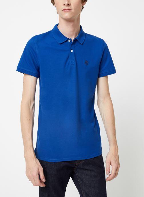Vêtements Selected Homme Slharo Embroidery Polo Bleu vue détail/paire