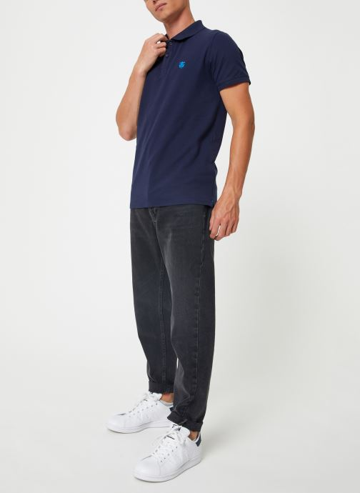 Vêtements Selected Homme Slharo Embroidery Polo Bleu vue bas / vue portée sac