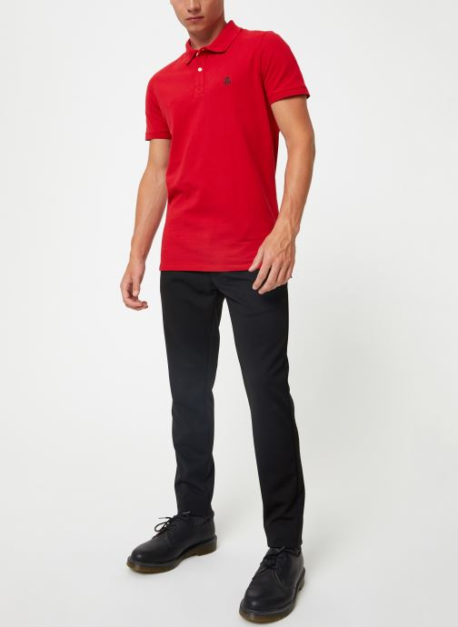 Vêtements Selected Homme Slharo Embroidery Polo Rouge vue bas / vue portée sac