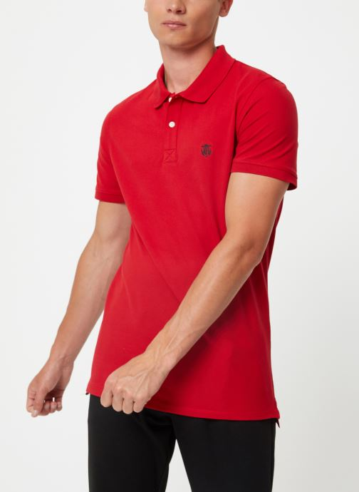 Vêtements Selected Homme Slharo Embroidery Polo Rouge vue droite