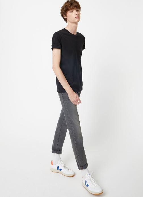 Vêtements Selected Homme Slhtheperfect Tee Noir vue bas / vue portée sac