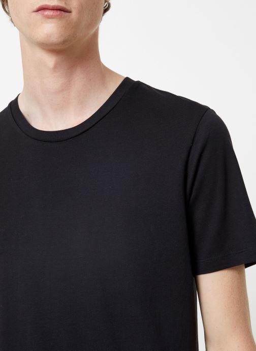 Vêtements Selected Homme Slhtheperfect Tee Noir vue face