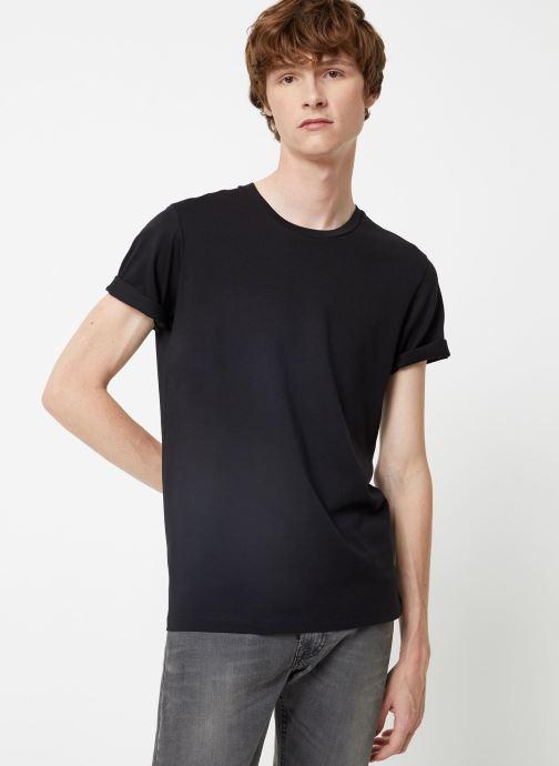Vêtements Selected Homme Slhtheperfect Tee Noir vue droite